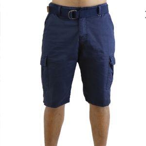 Men's Navy Blue Cargo Shorts Sz 38